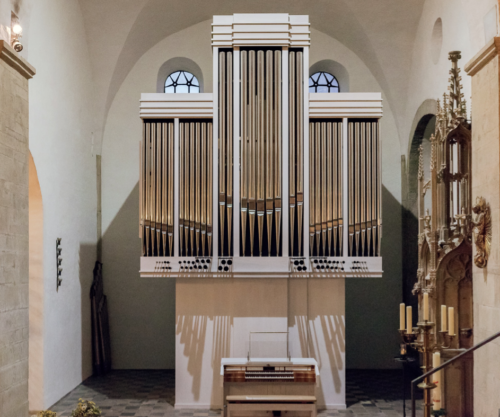 Die fertige neue Orgel...