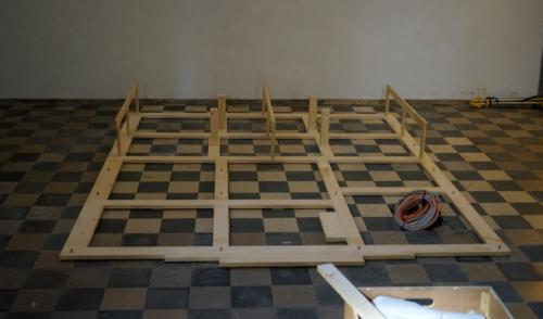 Aufbau des Boden-Gerüsts