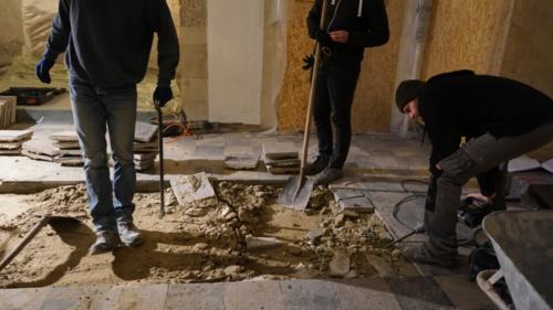 Bodenarbeiten und archäologische Messungen im September 2016
