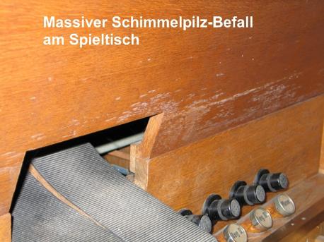 Schaden an der Breil Orgel 1